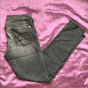 Bullhead gray super skinny jeans size 11